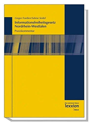 9783936232325: Das Informationsfreiheitsgesetz Nordrhein-Westfalen: Ein Praxiskommentar