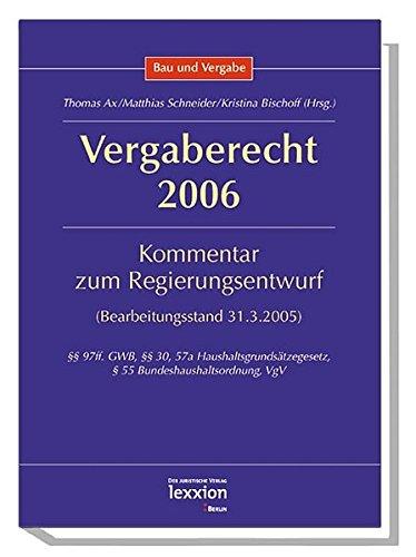 9783936232400: Vergaberecht 2006