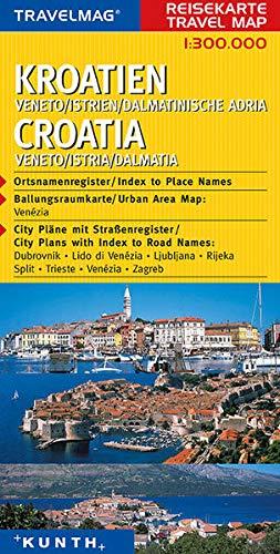 9783936368925: KUNTH Reisekarte Kroatien - Veneto - Istrien - Dalmatinische Adria 1 : 300 000: Reisekarten Europa