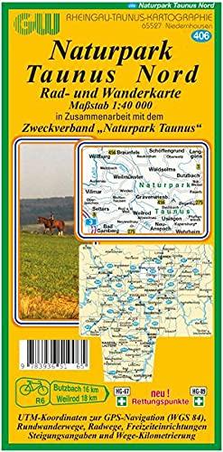 9783936510065: 406 Naturpark Hochtaunus Nord: Rad- und Wanderkarte
