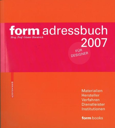 9783936560404: form adressbuch 2007 (German Edition)