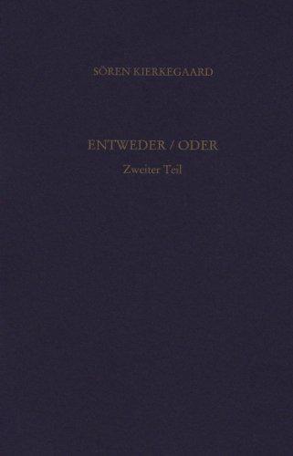 9783936762129: Entweder/Oder 2. Gesammelte Werke und Tageb�cher. 2/3. Abt. Bd. 2