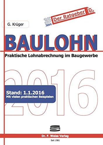 Baulohn 2016: G�nther Kr�ger