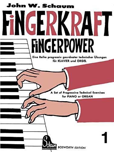 9783937041001: Fingerkraft 1: Progressiv geordnete technische Übungen für Klavier oder Orgel