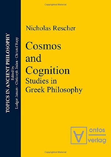 9783937202655: Cosmos and Cognition: Studies in Greek Philosophy (Topics In Ancient Philosophy)