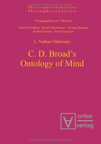 9783937202976: C.D. Broad's Ontology of Mind (Philosophical Analysis)