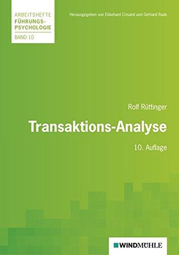 9783937444581: Transaktions-Analyse