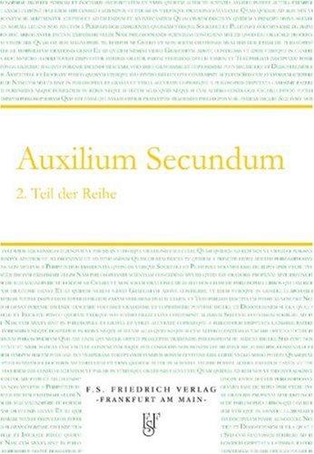9783937446073: Auxilium Secundum: Erste Hilfe f�r Lateinlernende