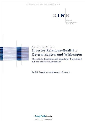 Investor Relations-Qualität: Determinanten und Wirkungen: Christopher Ridder