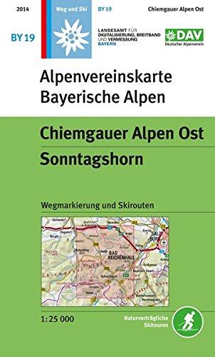 DAV Alpenvereinskarte Bayerische Alpen 19 Chiemgauer Alpen Ost - Sonntagshorn