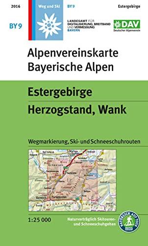 9783937530321: DAV Bayerische Alpen 09. Estergebirge, Herzogstand, Wank 1 : 25 000