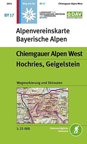 DAV Alpenvereinskarte Bayerische Alpen 17. Chiemgauer Alpen West 1 : 25 000 : Topographische Karte ...