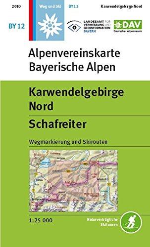 9783937530390: DAV Bayerische Alpen 12. Karwendelgebirge Nord, Schafreiter 1 : 25 000: Mit Wegmarkierungen und Skirouten
