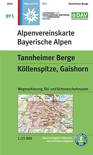 9783937530451: Bayerische Alpen 05 Tannheimer Berge 1 : 25.000