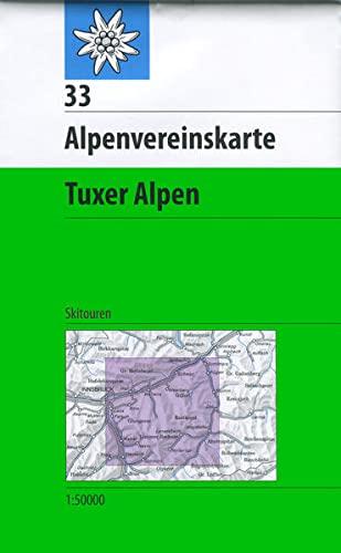 9783937530482: DAV Alpenvereinskarte 33 Tuxer Alpen 1 : 50 000 Skirouten