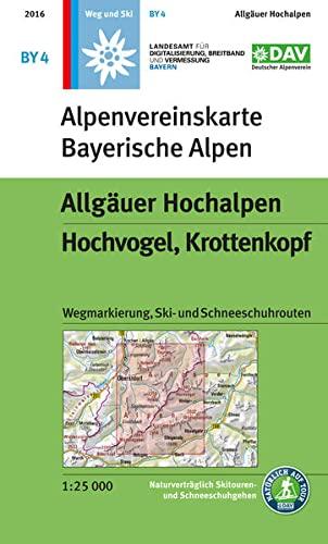 9783937530734: BY 4 Allgäuer Hochalpen, Hochvogel, Krottenkopf,: mit Wegmarkierungen und Skirouten