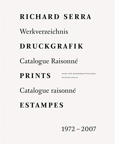 9783937572857: Druckgrafik Prints Estampes: Werkverzeichnis Catalogue Raisonne: 1972-2007
