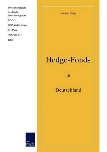 9783937686486: Hedgefonds in Deutschland
