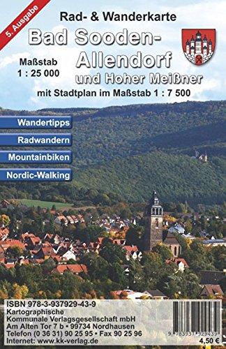 9783937929439: Bad Sooden-Allendorf und Hoher Meißner 1 : 25 000: Rad- und Wanderkarte mit Stadtplan mit Stadtteilen 1 : 7 500