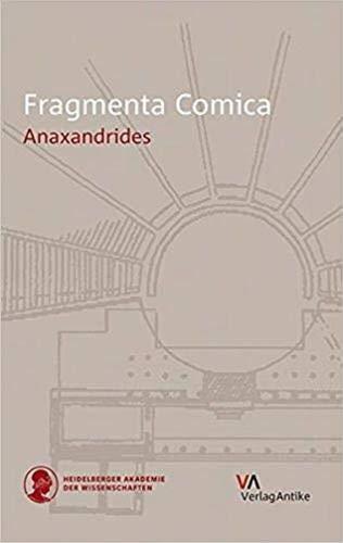 9783938032923: Fragmenta Comica: Anaxandrides