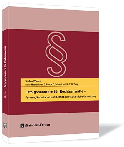 9783938062227: Erfolgshonorare f�r Rechtsanw�lte