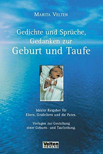 Gedichte Und Sprüche Gedanken Zur Geburt Und Taufe By