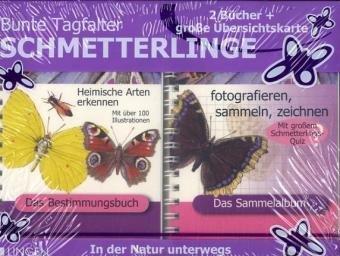 9783938323014: Bunte Tagfalter Schmetterlinge, 2 Bde. u. Übersichtskte.