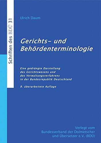 9783938430231: Daum, U: Gerichts- und Behördenterminologie (9. überarbeitet