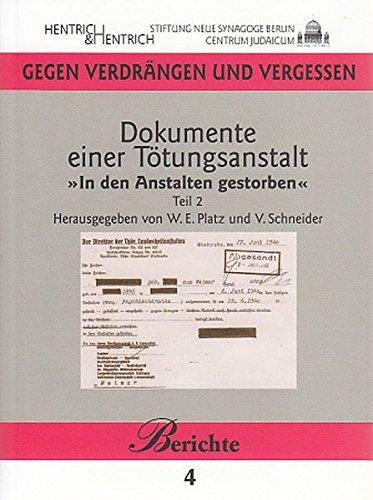 9783938485590: Dokumente einer Tötungsanstalt