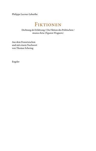 9783938767665: Die Fiktionen des Politischen