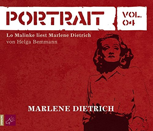 Portrait Vol. 04. Marlene Dietrich. 2 CDs - Bemmann, Helga