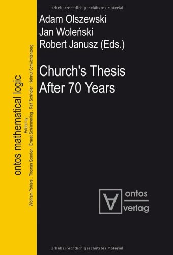9783938793091: Church's Thesis After 70 Years: 1 (Ontos Mathematical Logic)