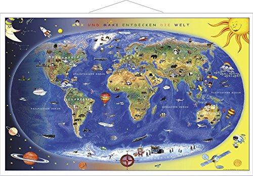 Kinderweltkarte Lernposter mit Metallbeleistung