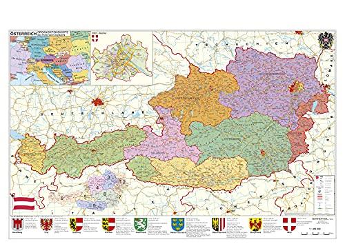 9783938842591: �sterreich politisch: Wandkarte mit Metallbeleistung