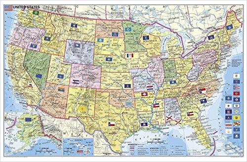 9783938842690: USA Bundesstaaten mit Postleitzahlen: Wandkarte- Poster