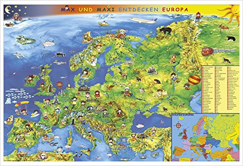 9783938842966: Kindereuropakarte. Wandkarte Poster