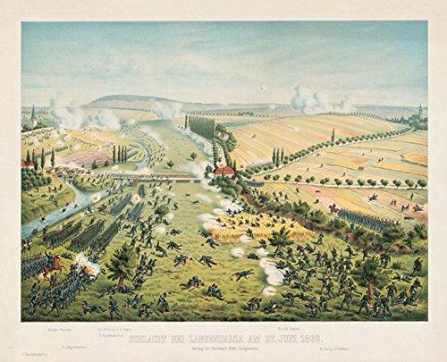 9783938997697: Schlacht bei Langensalza am 27. Juni 1866: Lithographie von der Schlacht bei Langensalza am 27. Juni 1866 mit Merxleben, der Unstrut und Langensalza