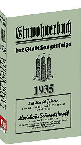 9783938997888: Adreßbuch /Einwohnerbuch der Stadt Langensalza 1935