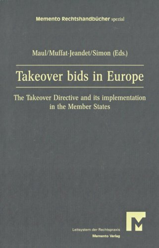 9783939099093: Takeover bids in Europe