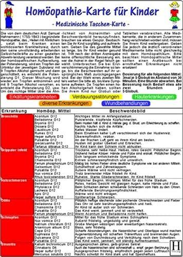 9783939378617: Hom�opathie f�r Kinder / Medizinische Taschen-Karte