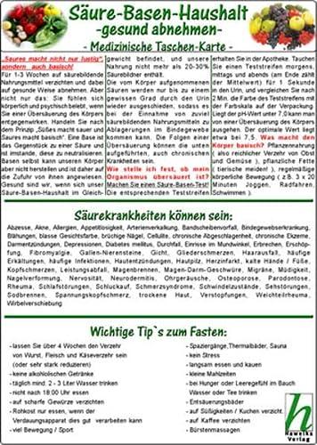 9783939378631: Säure-Basen-Haushalt - gesund abnehmen / Medizinische Taschen-Karte