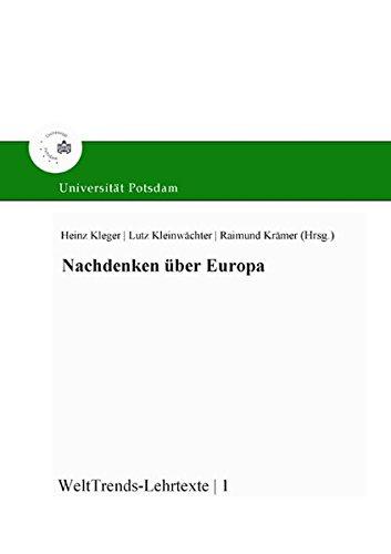 9783939469186: Nachdenken über Europa