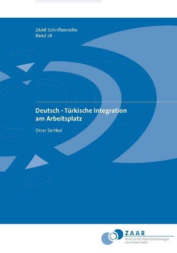 9783939671220: Deutsch -Türkische Integration am Arbeitsplatz