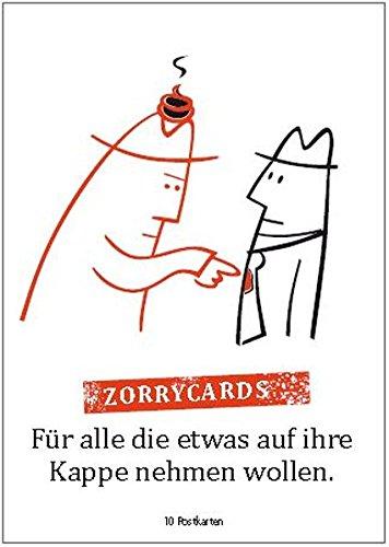 9783939696179: Zorrycards - 10 Postkarten: Für alle, die etwas auf ihre Kappe nehmen wollen