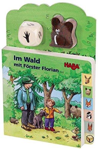 9783939709299: Im Wald mit F?rster Florian (Rahmenpuzzle), m. Holzw?rfel u. -figur