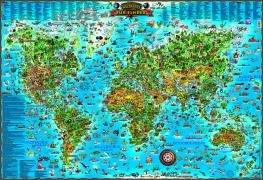 9783939729136: Weltkarte fur Kinder: Dino's illustrierte Karten