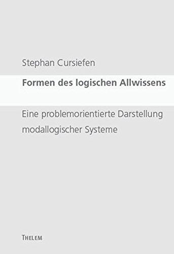 Formen des logischen Allwissens: Stephan Cursiefen