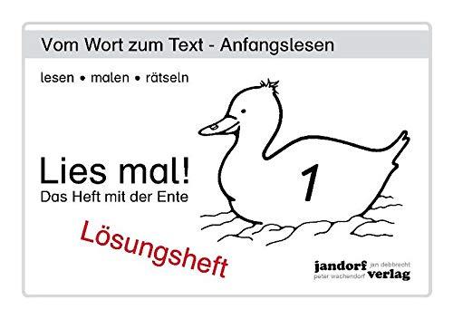 Lies mal! Heft 1. Lösungsheft: Peter Wachendorf, Jan