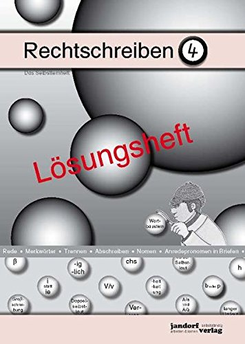 9783939965688: Rechtschreiben 4 (Lösungsheft)