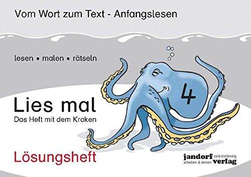 9783939965855: Lies mal 4 - Das Heft mit dem Kraken. Lösungsheft